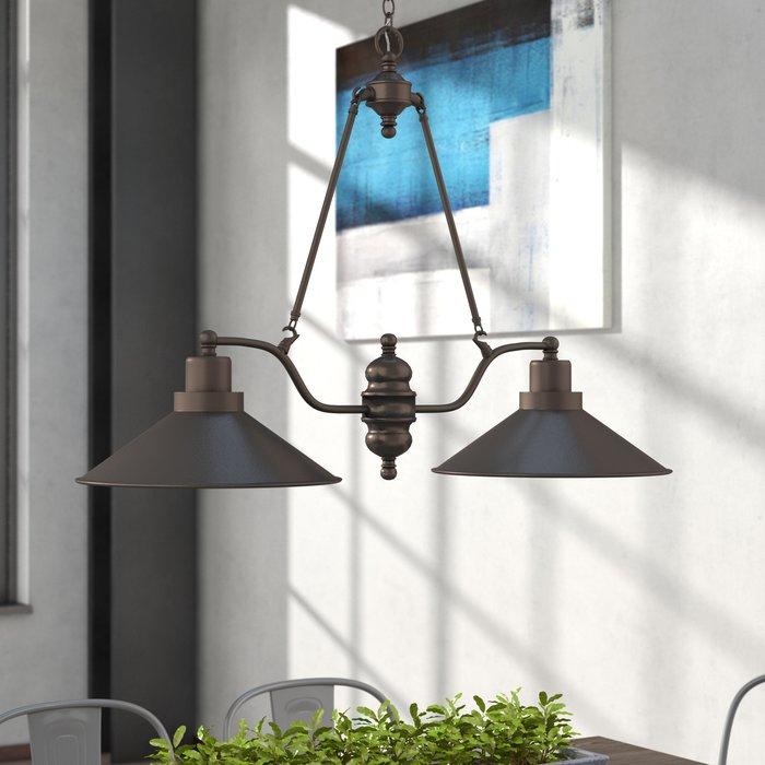 Featured Image of Euclid 2 Light Kitchen Island Linear Pendants