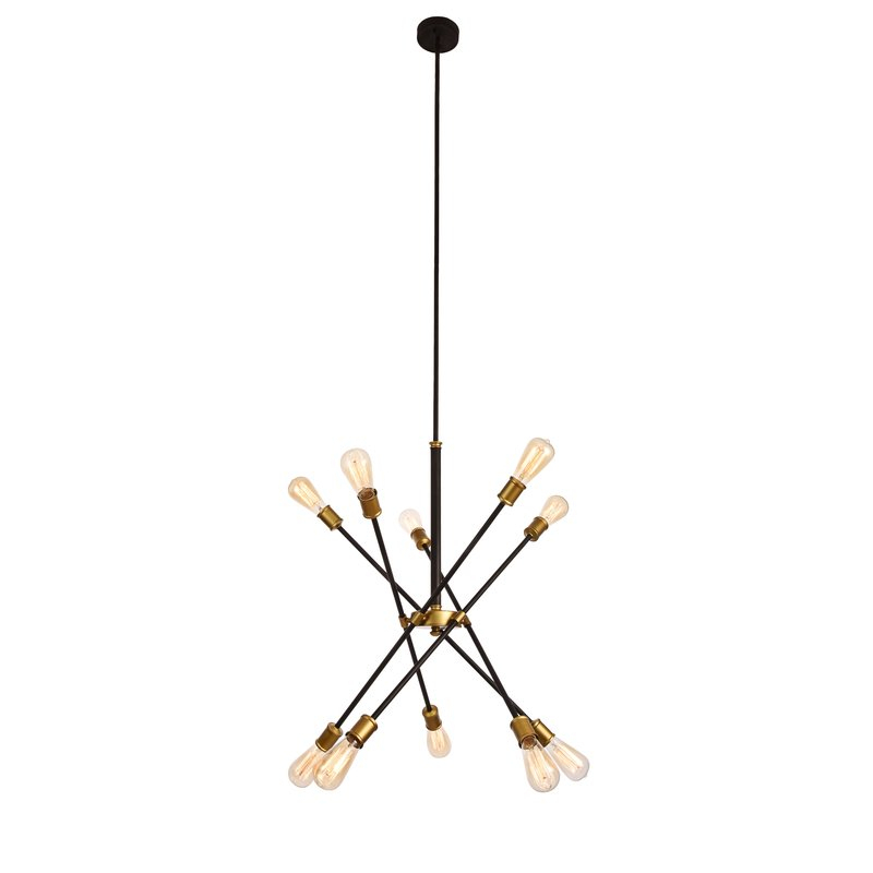 Everett 10 Light Sputnik Chandelier In Asher 12 Light Sputnik Chandeliers (View 10 of 20)