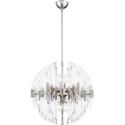 Everly Quinn Steele 6 Light Globe Chandelier | Products Intended For Verlene Foyer 5 Light Globe Chandeliers (View 9 of 20)