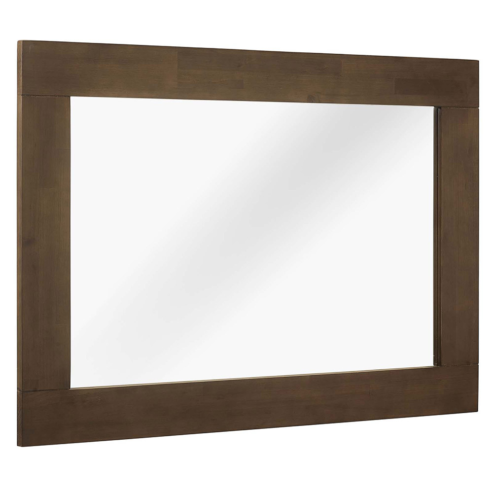 Evers Wall Mirror For Walnut Wood Wall Mirrors (Image 10 of 20)