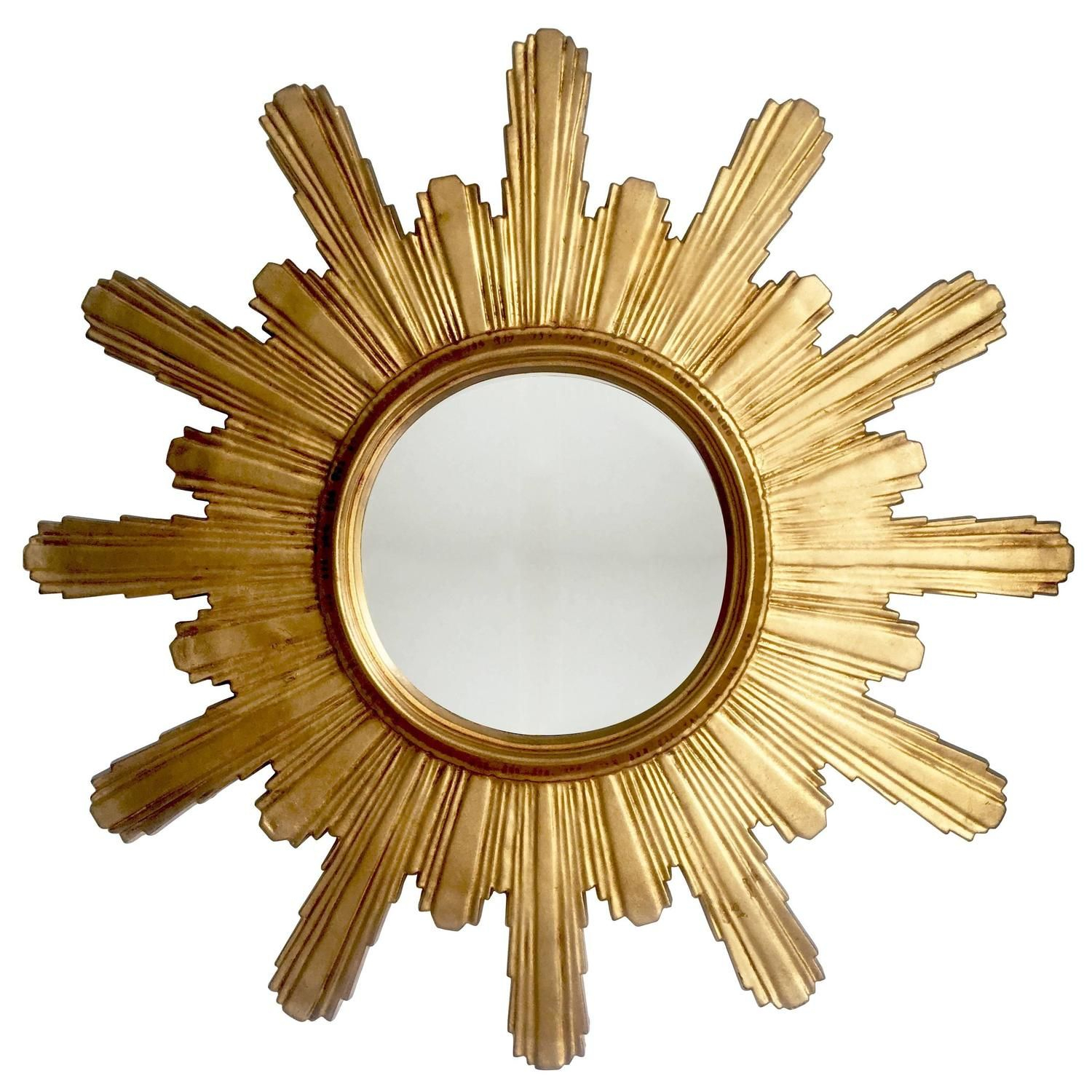 Extra Large Carved Wooden Brutalist Sunburst Or Starburst Pertaining To Birksgate Sunburst Accent Mirrors (Image 7 of 20)