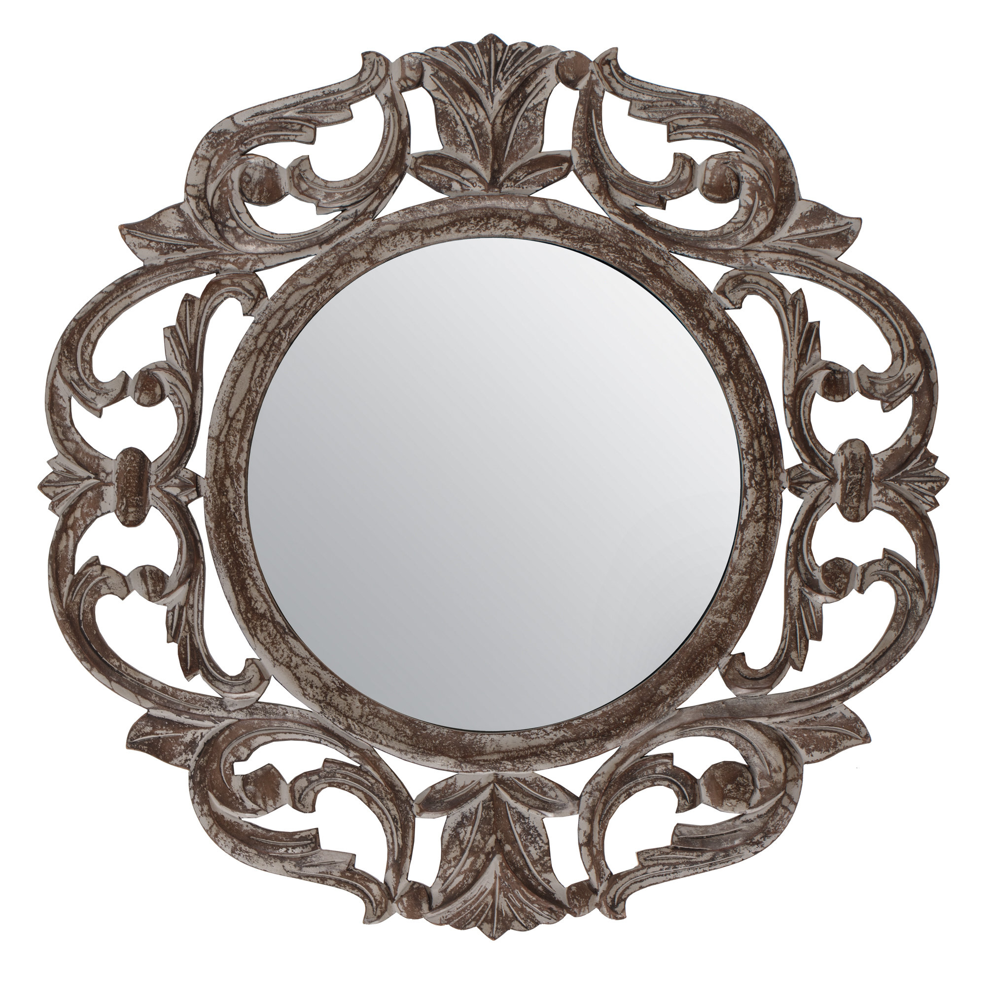 Ezekiel Accent Mirror Pertaining To Alissa Traditional Wall Mirrors (View 8 of 20)
