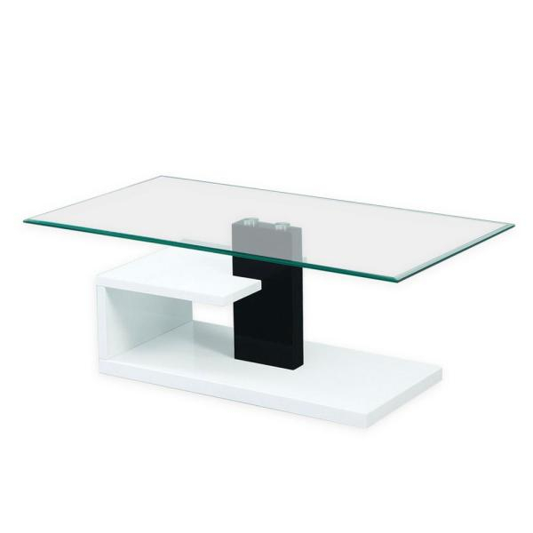 Fab Glass And Mirror Modern Tempered Black And White Glass For Jessa Rustic Country 54 Inch Coffee Tables (Image 11 of 25)