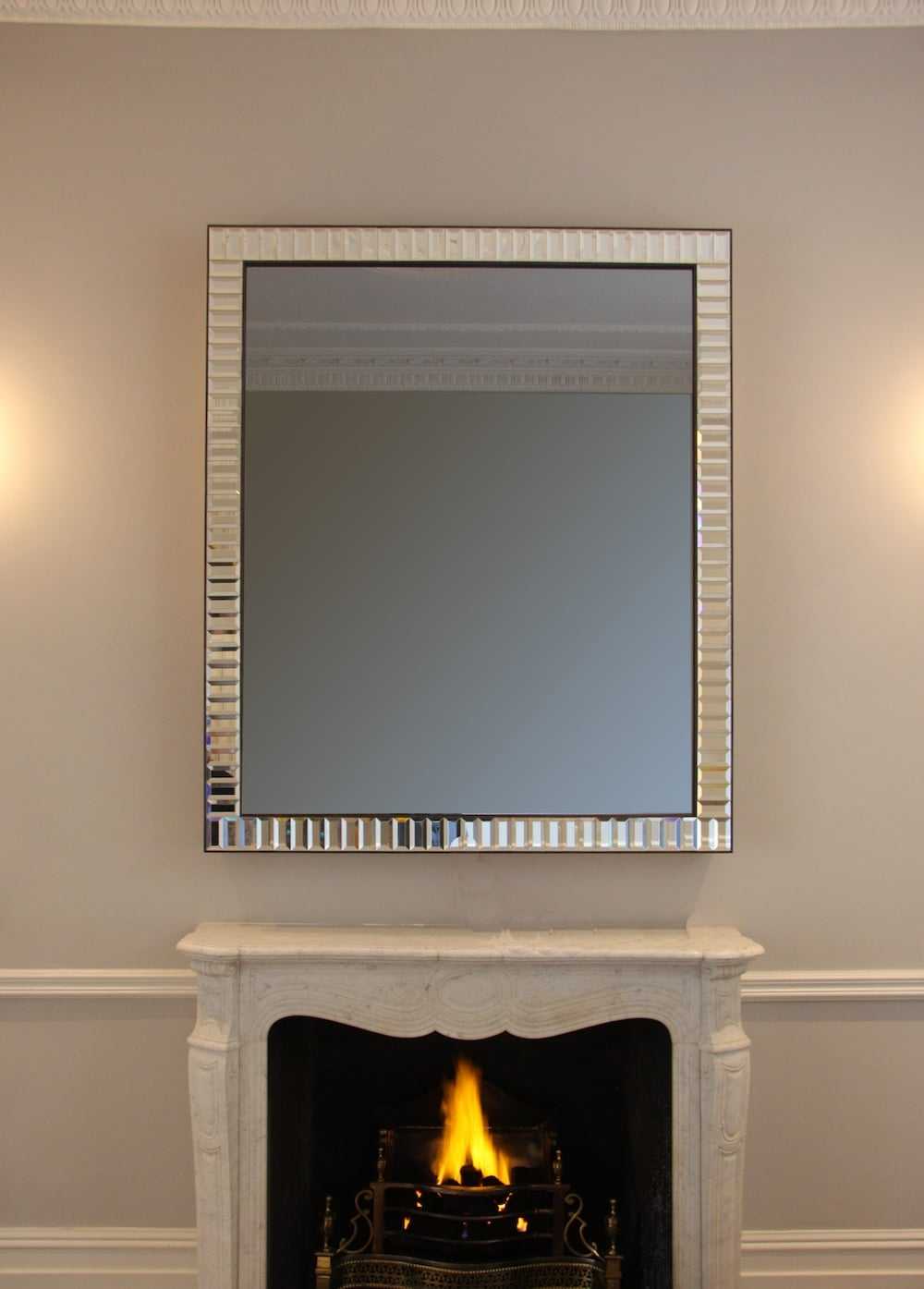 Facet Mirror For Modern & Contemporary Beveled Overmantel Mirrors (View 20 of 20)