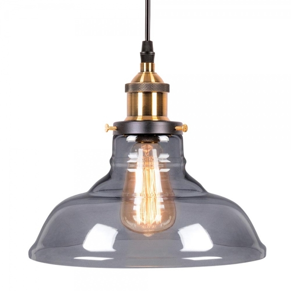 Factory Glass Bowl Pendant Light – Antique Gold / Black Within Vintage Edison 1 Light Bowl Pendants (View 22 of 25)