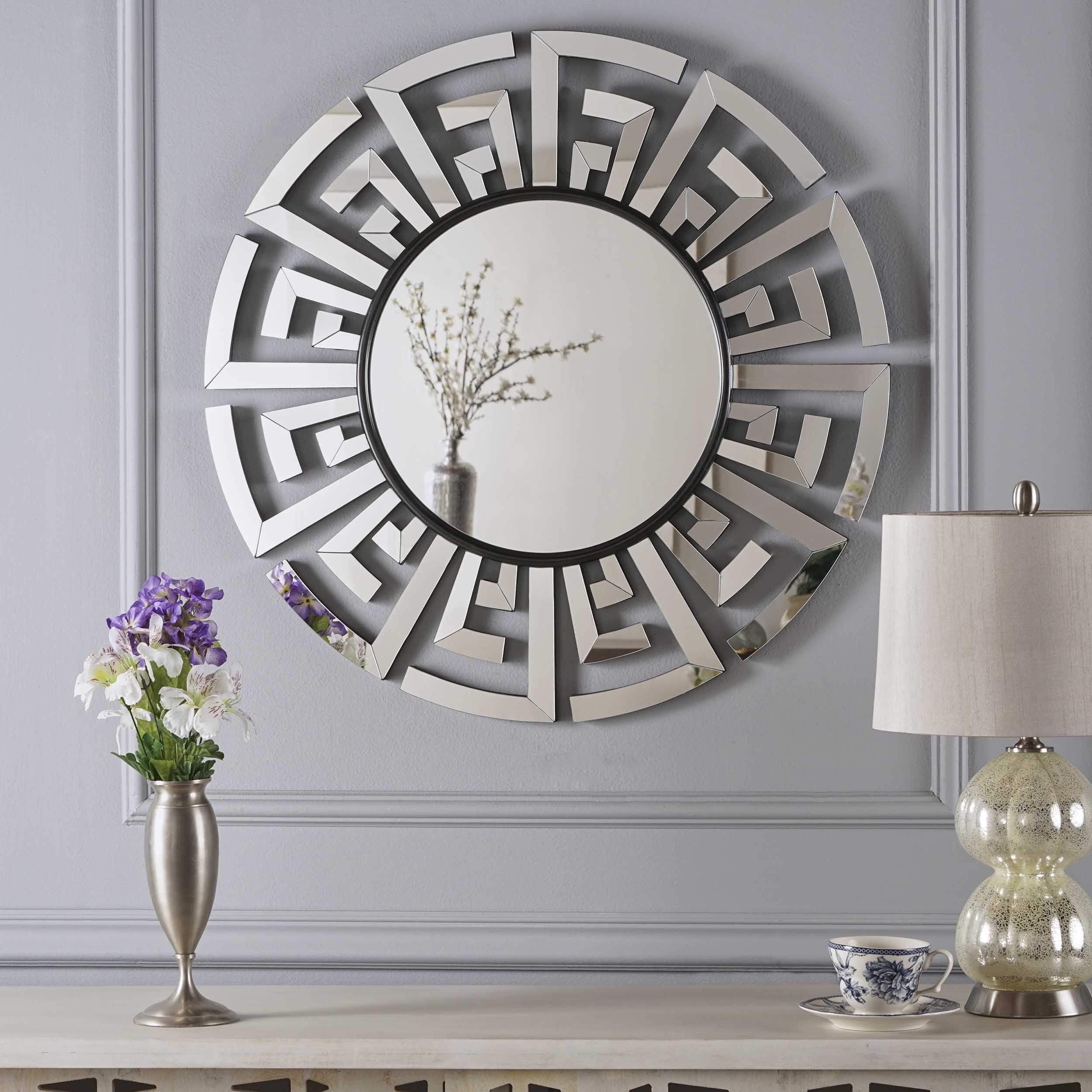 Far East Chinese Inspired Wall Mirror | Products | Round Intended For Tata Openwork Round Wall Mirrors (Image 6 of 20)