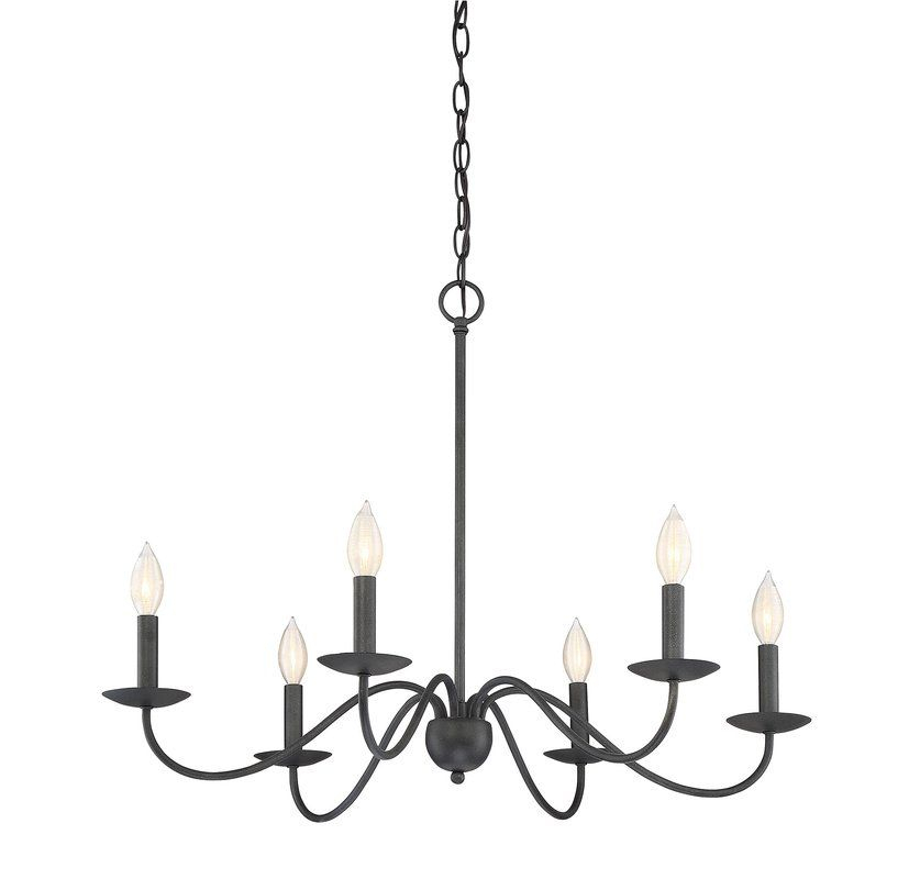 Farell 6 Light Candle Style Chandelier | Dining Room Inside Hamza 6 Light Candle Style Chandeliers (View 7 of 20)