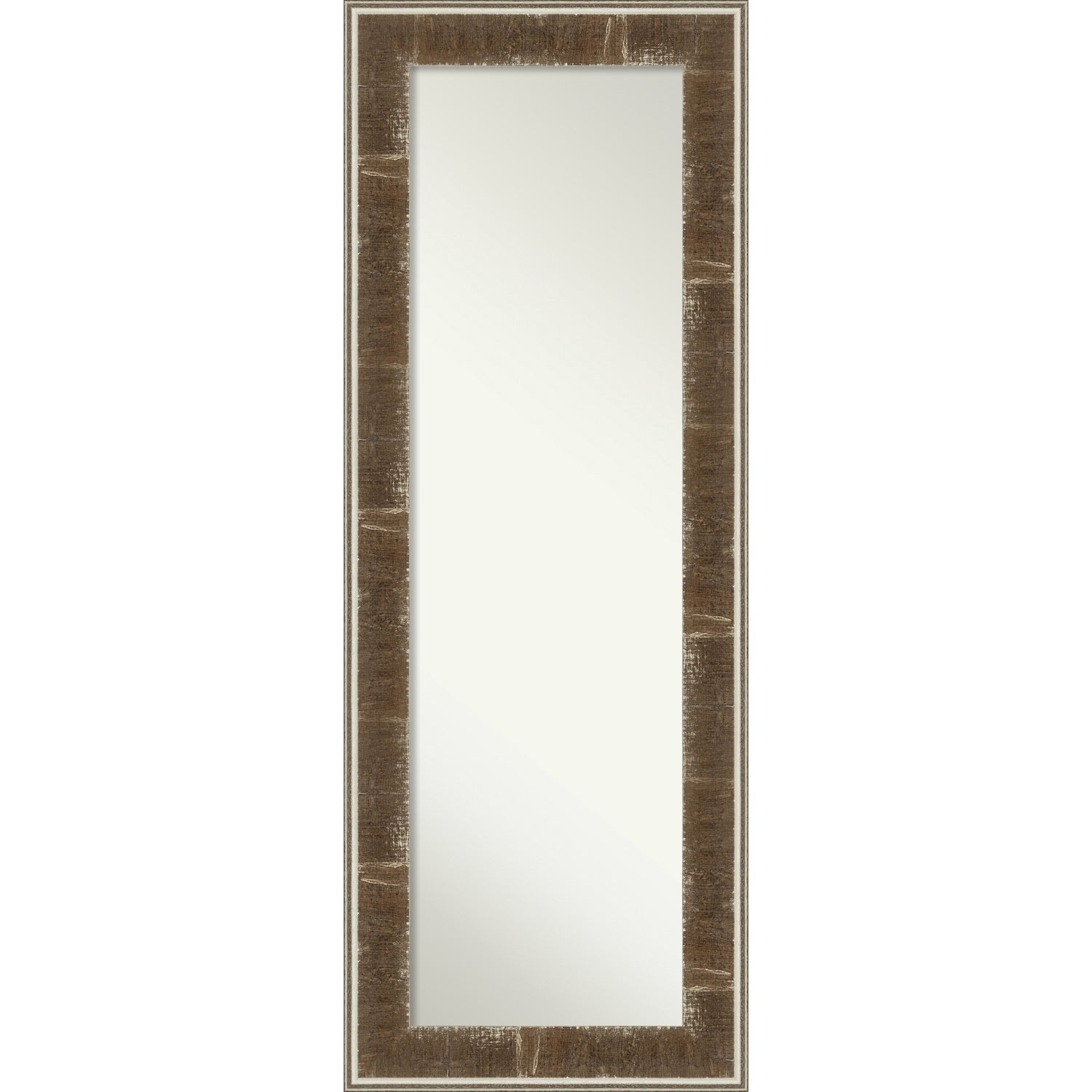 Farmhouse Brown Wood On The Door Full Length Wall Mirror – 54 X 20 X  (Image 8 of 20)