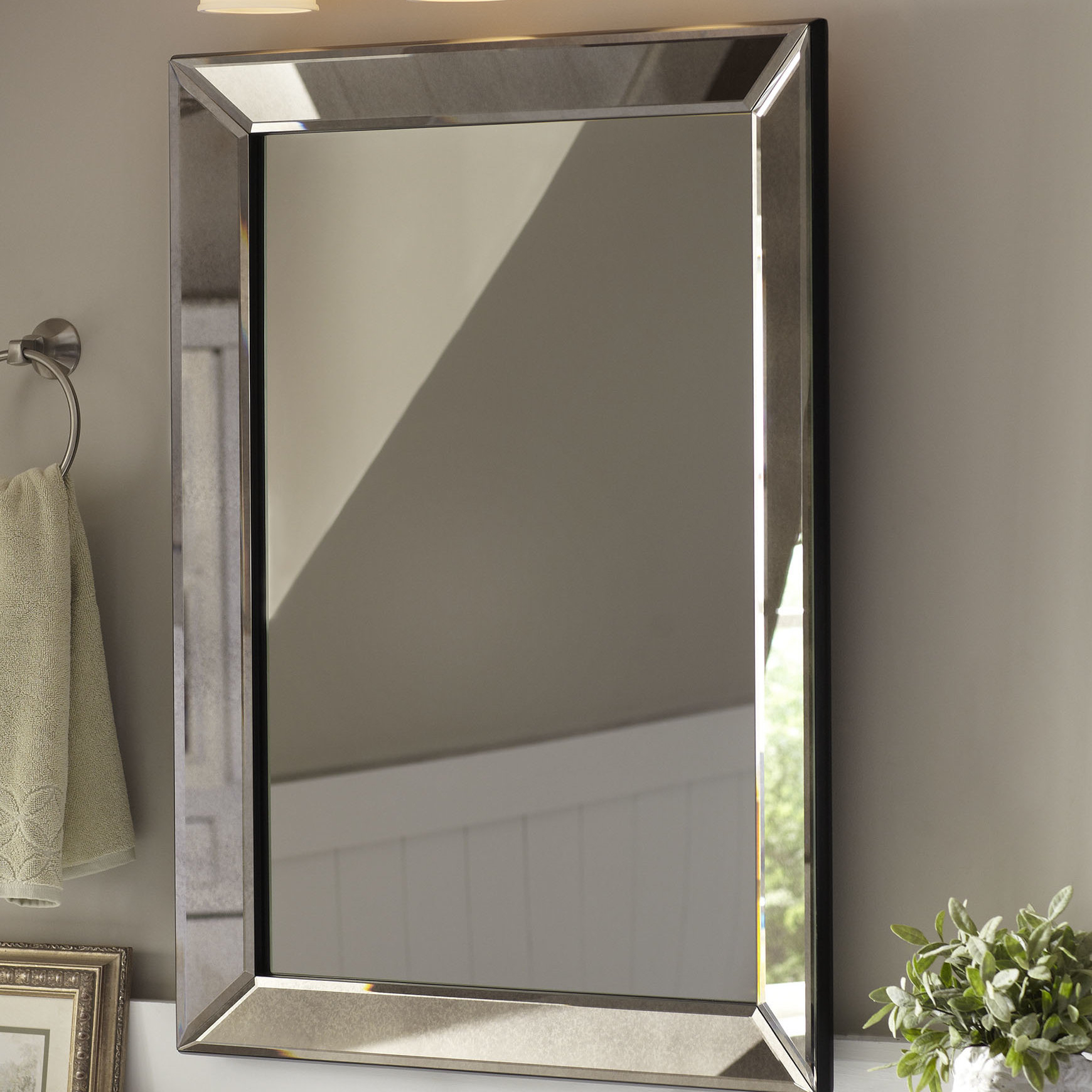 Farmhouse Mirrors | Birch Lane Intended For Grid Accent Mirrors (Image 5 of 20)