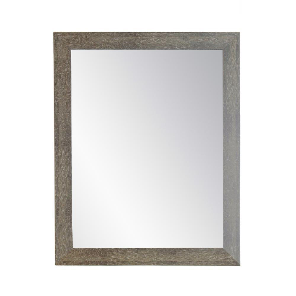 Farmhouse Olive Accent Mirror Regarding Farmhouse Woodgrain And Leaf Accent Wall Mirrors (View 14 of 20)