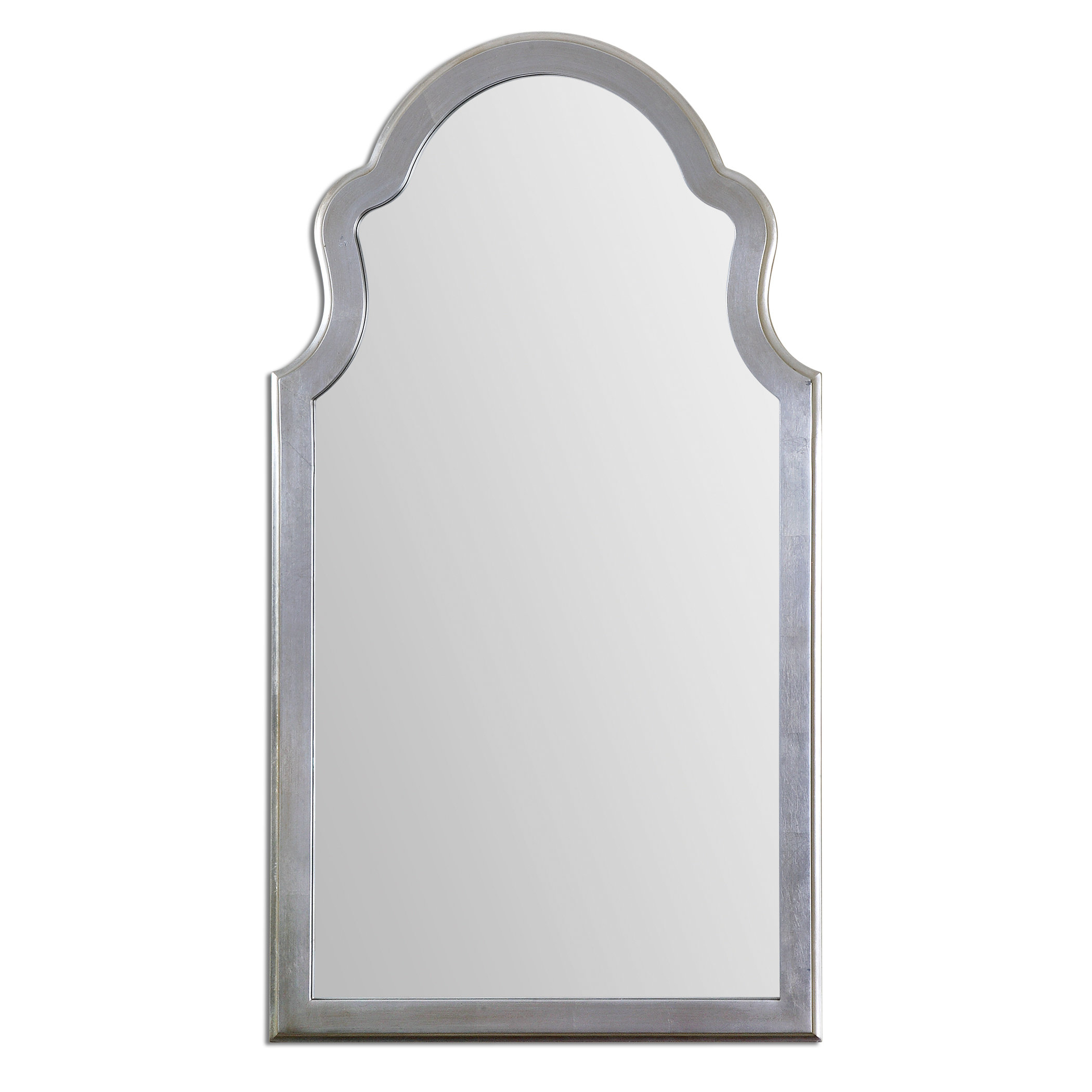 Farmhouse & Rustic Arch / Crowned Top Wall & Accent Mirrors In Dariel Tall Arched Scalloped Wall Mirrors (Image 9 of 20)