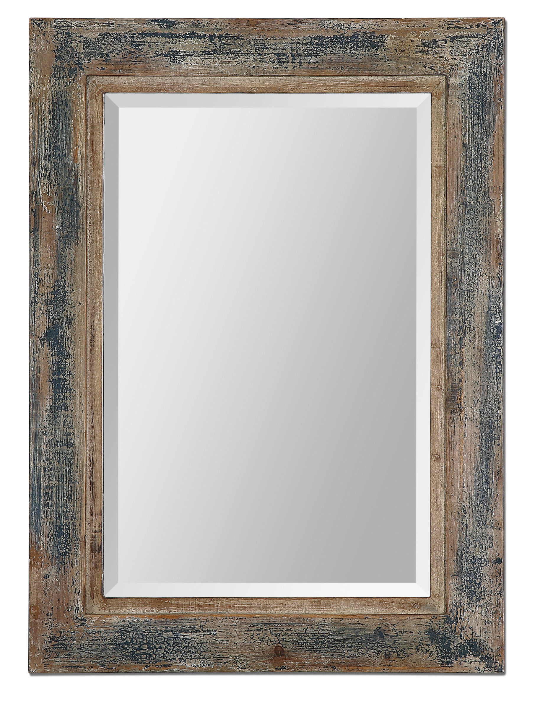 Farmhouse & Rustic Blue Wall & Accent Mirrors | Birch Lane Intended For Reba Accent Wall Mirrors (View 17 of 20)