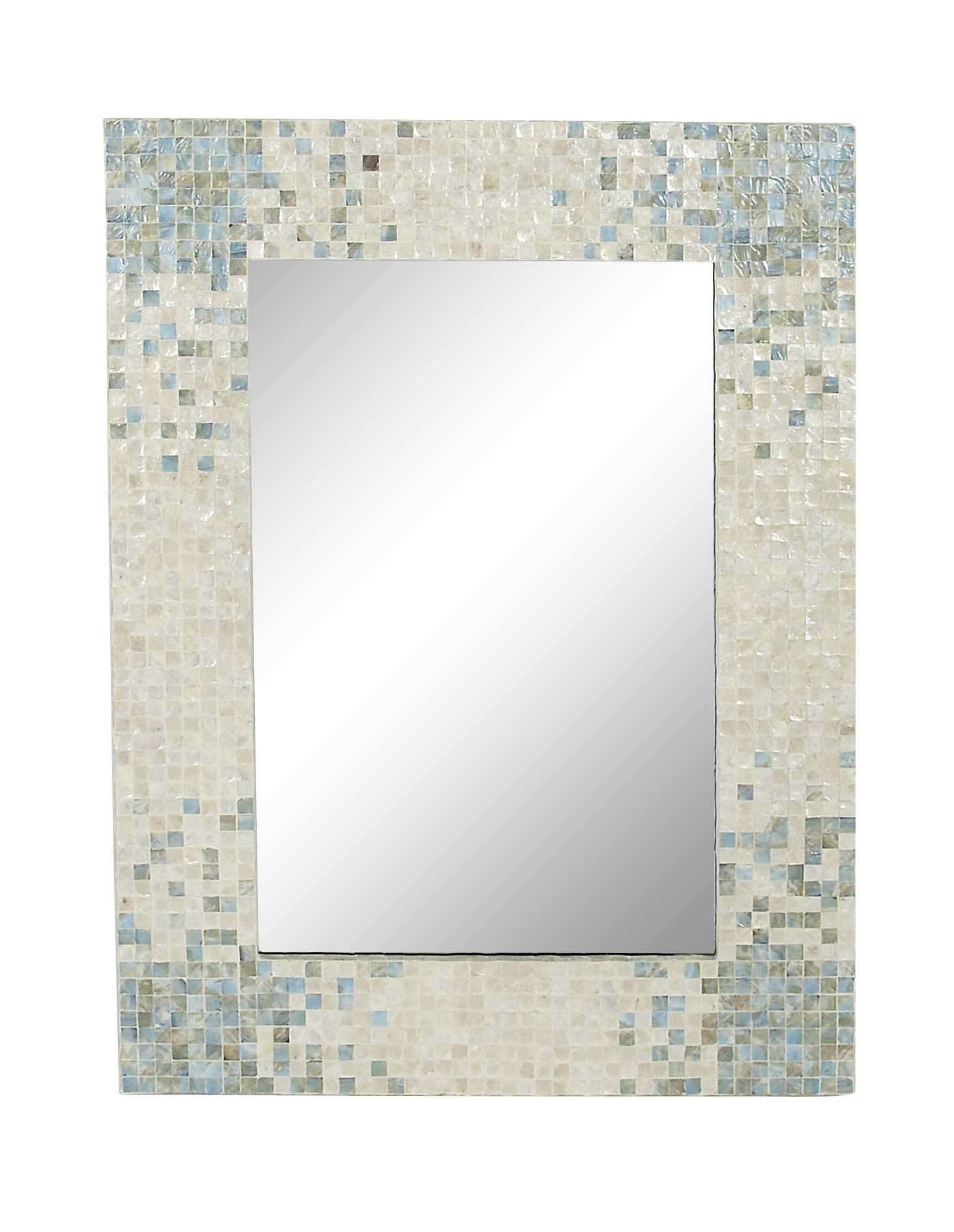 Farmhouse & Rustic Blue Wall & Accent Mirrors | Birch Lane With Lajoie Rustic Accent Mirrors (View 3 of 20)
