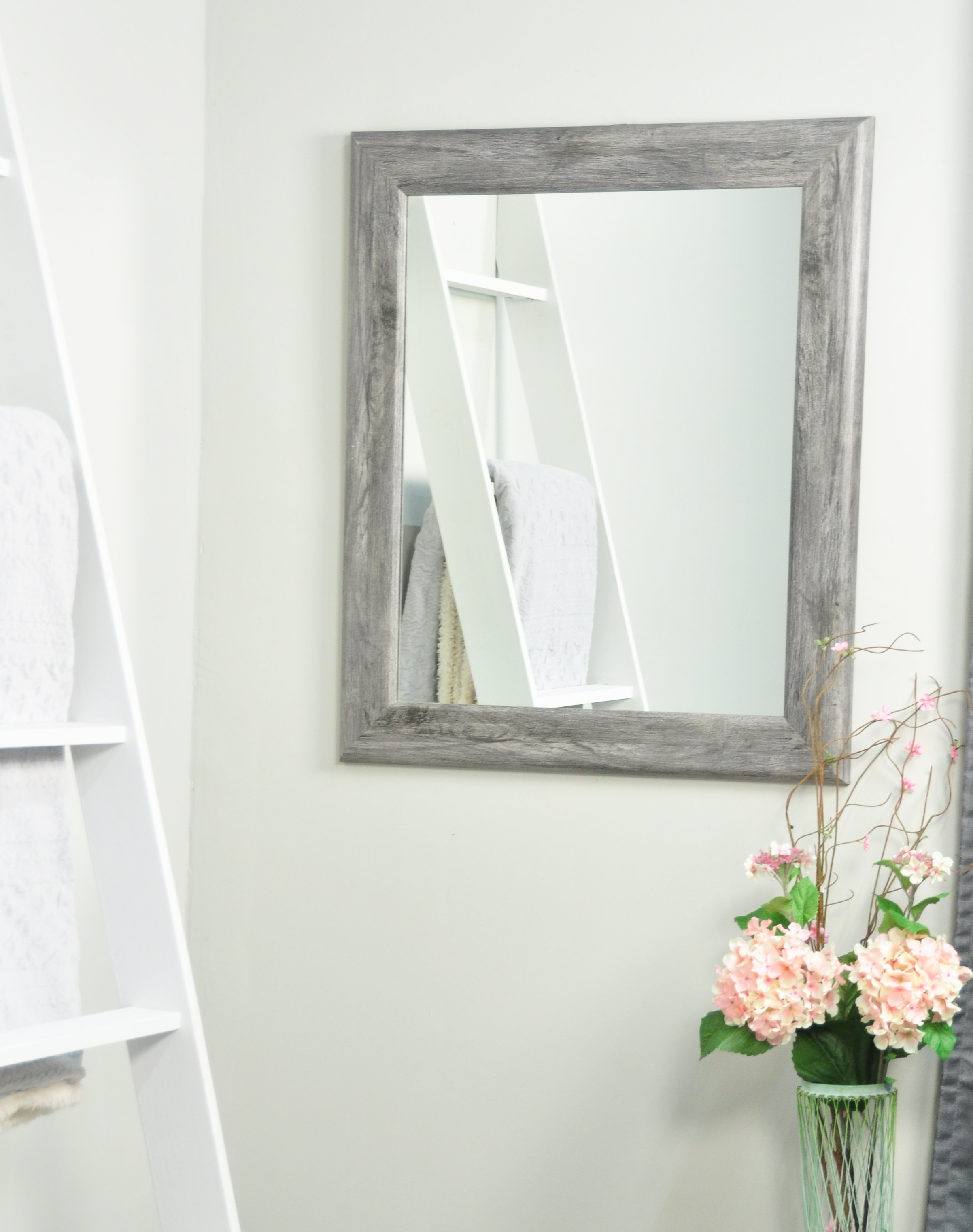 Farmhouse & Rustic Floor Mirrors | Birch Lane Intended For Handcrafted Farmhouse Full Length Mirrors (Image 6 of 20)