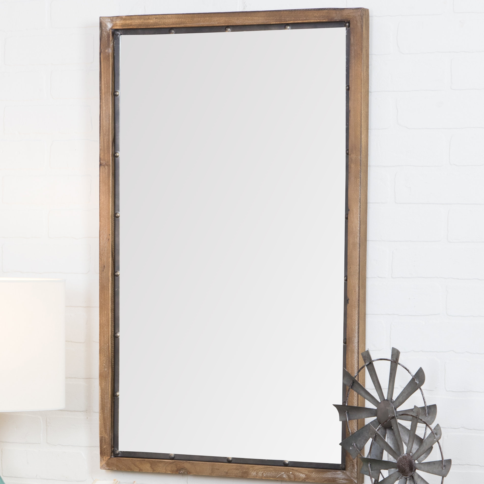 Farmhouse & Rustic Gracie Oaks Wall & Accent Mirrors | Birch Inside Kinley Accent Mirrors (Image 2 of 20)