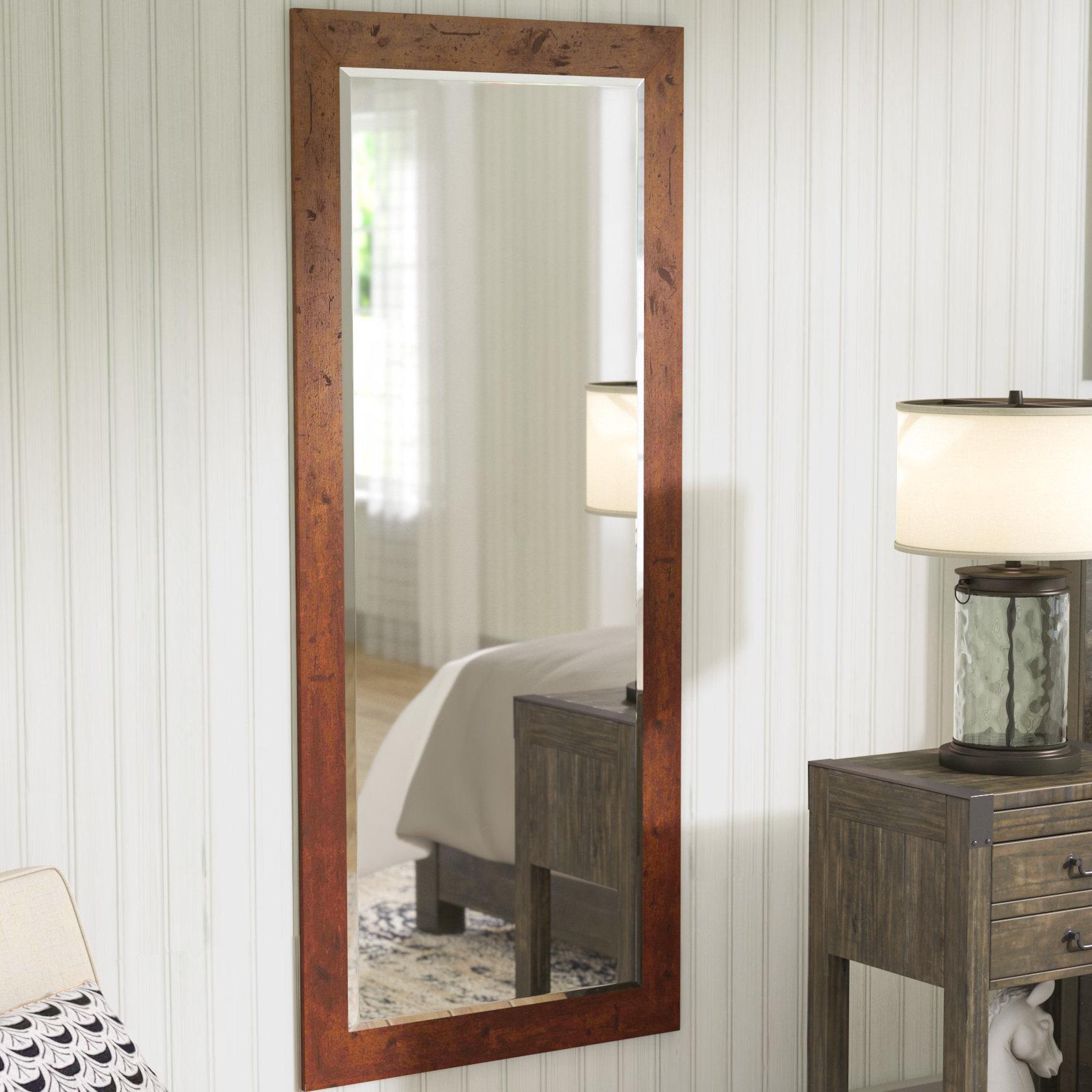 Farmhouse & Rustic Laurel Foundry Modern Farmhouse Wall Regarding Peetz Modern Rustic Accent Mirrors (Image 3 of 20)