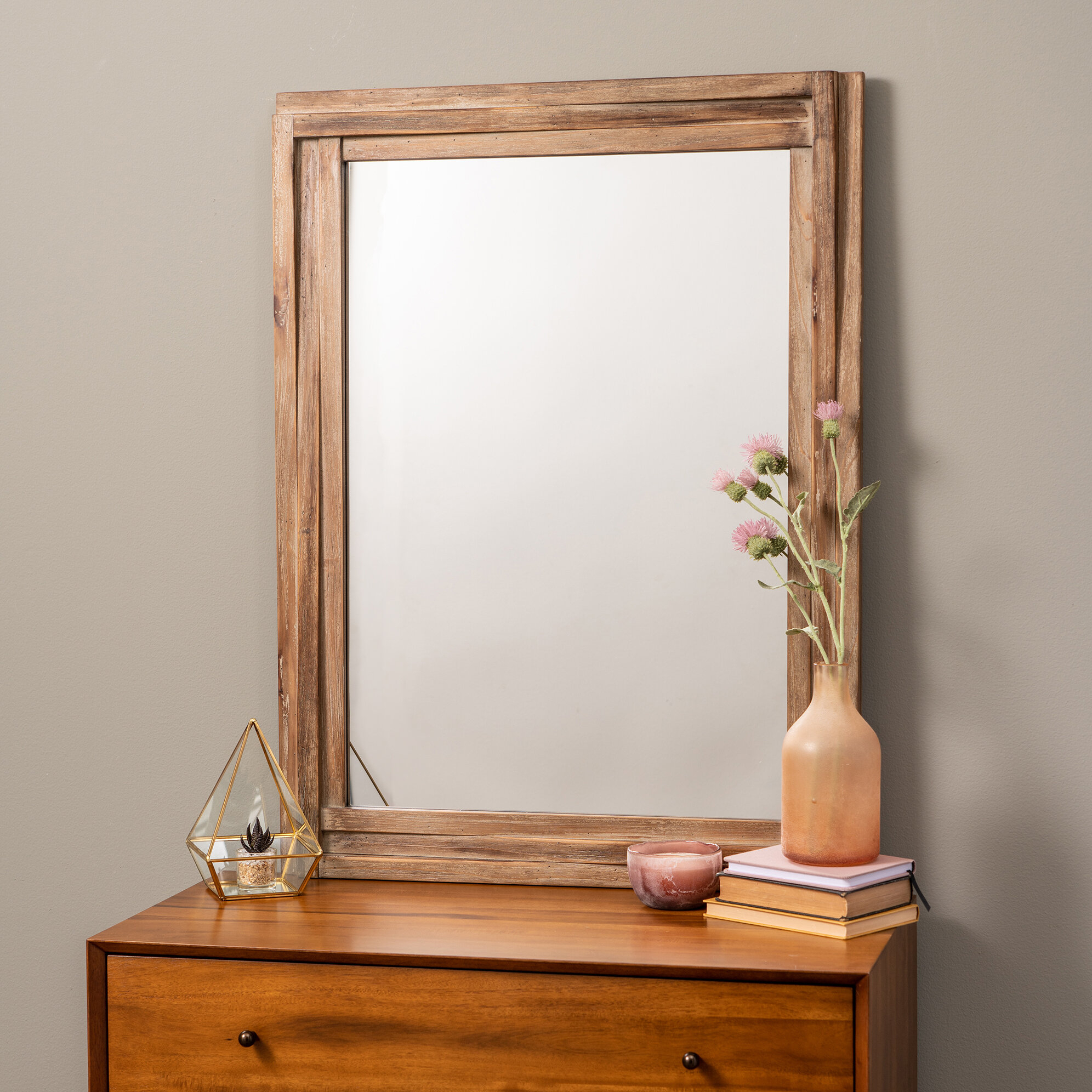 Farmhouse & Rustic Loon Peak Wall & Accent Mirrors | Birch Lane In Lajoie Rustic Accent Mirrors (View 13 of 20)
