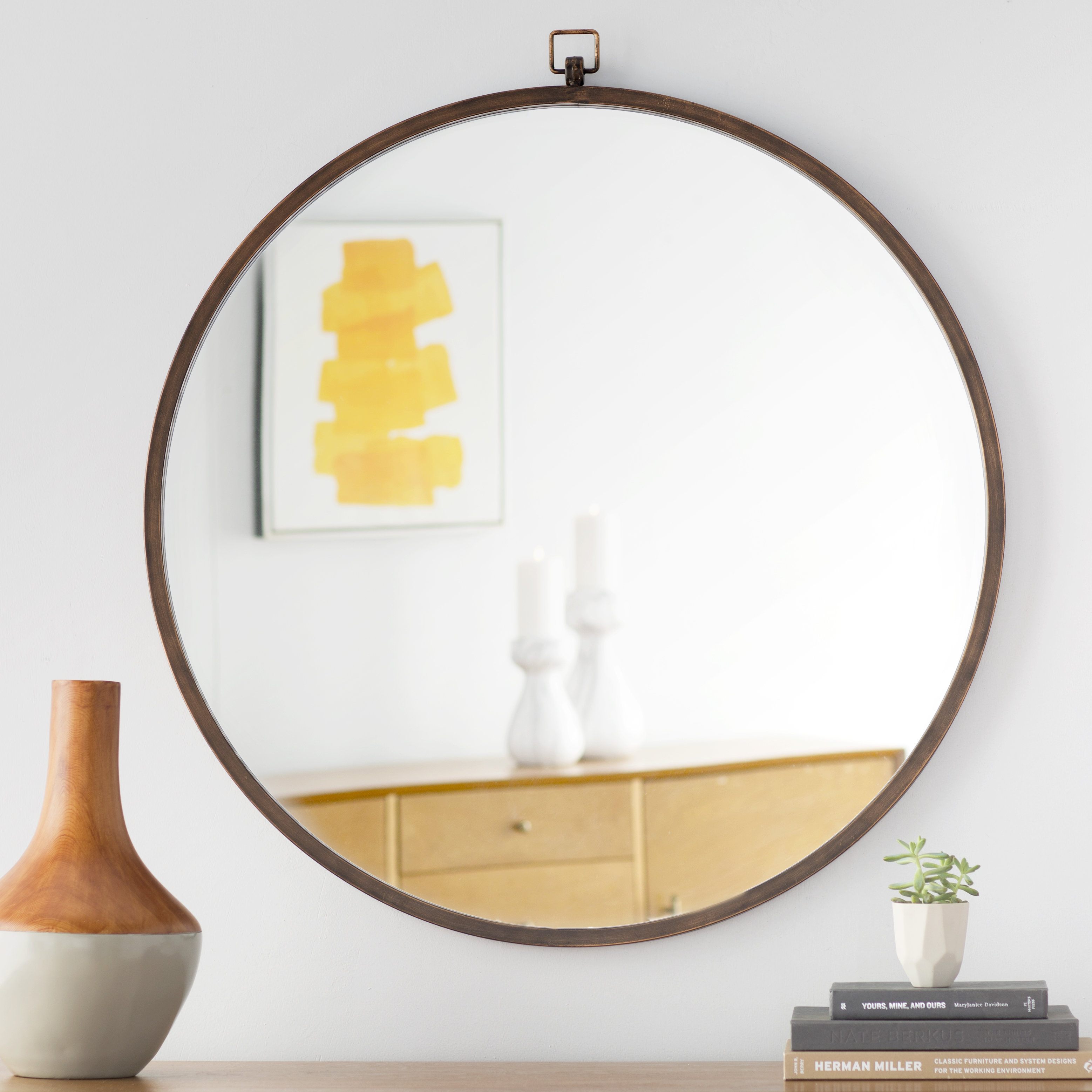 Farmhouse & Rustic Mirrors Sale | Birch Lane Inside Knott Modern & Contemporary Accent Mirrors (Image 7 of 20)
