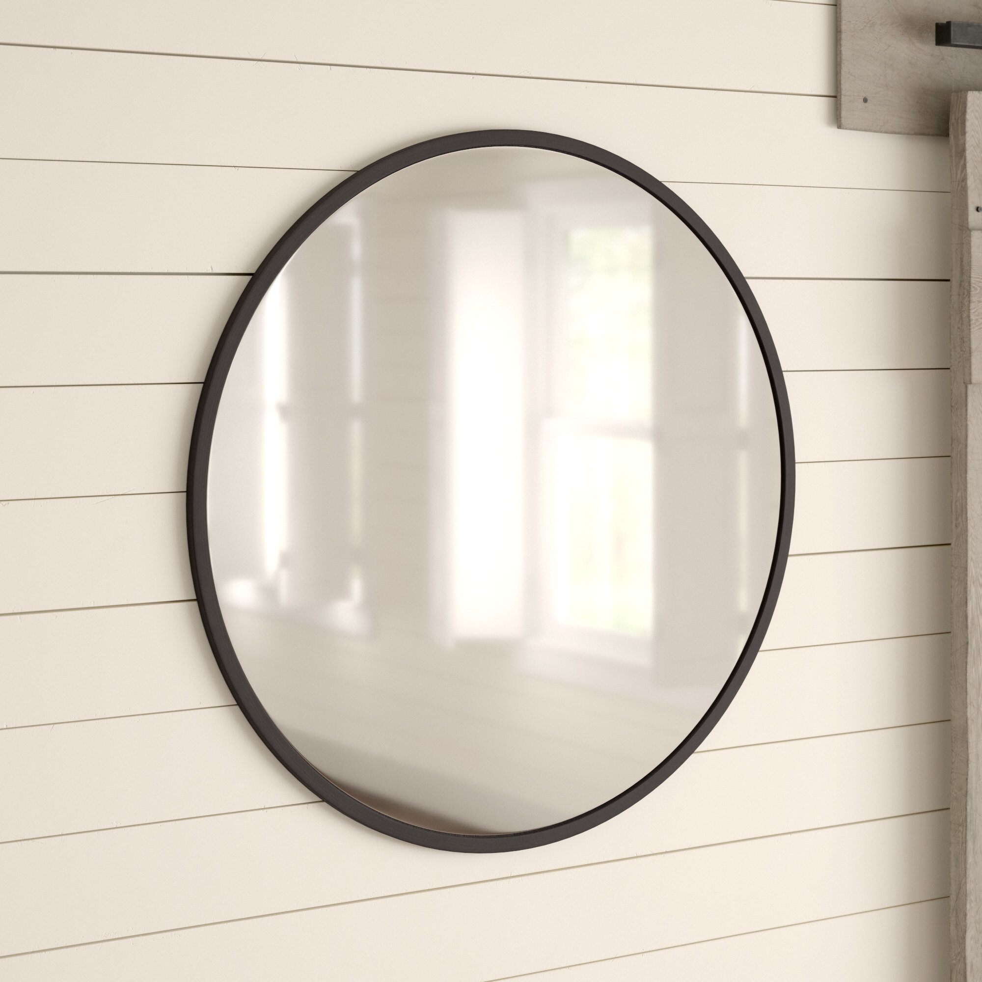 Farmhouse & Rustic Mirrors Sale | Birch Lane Intended For Knott Modern & Contemporary Accent Mirrors (Image 8 of 20)