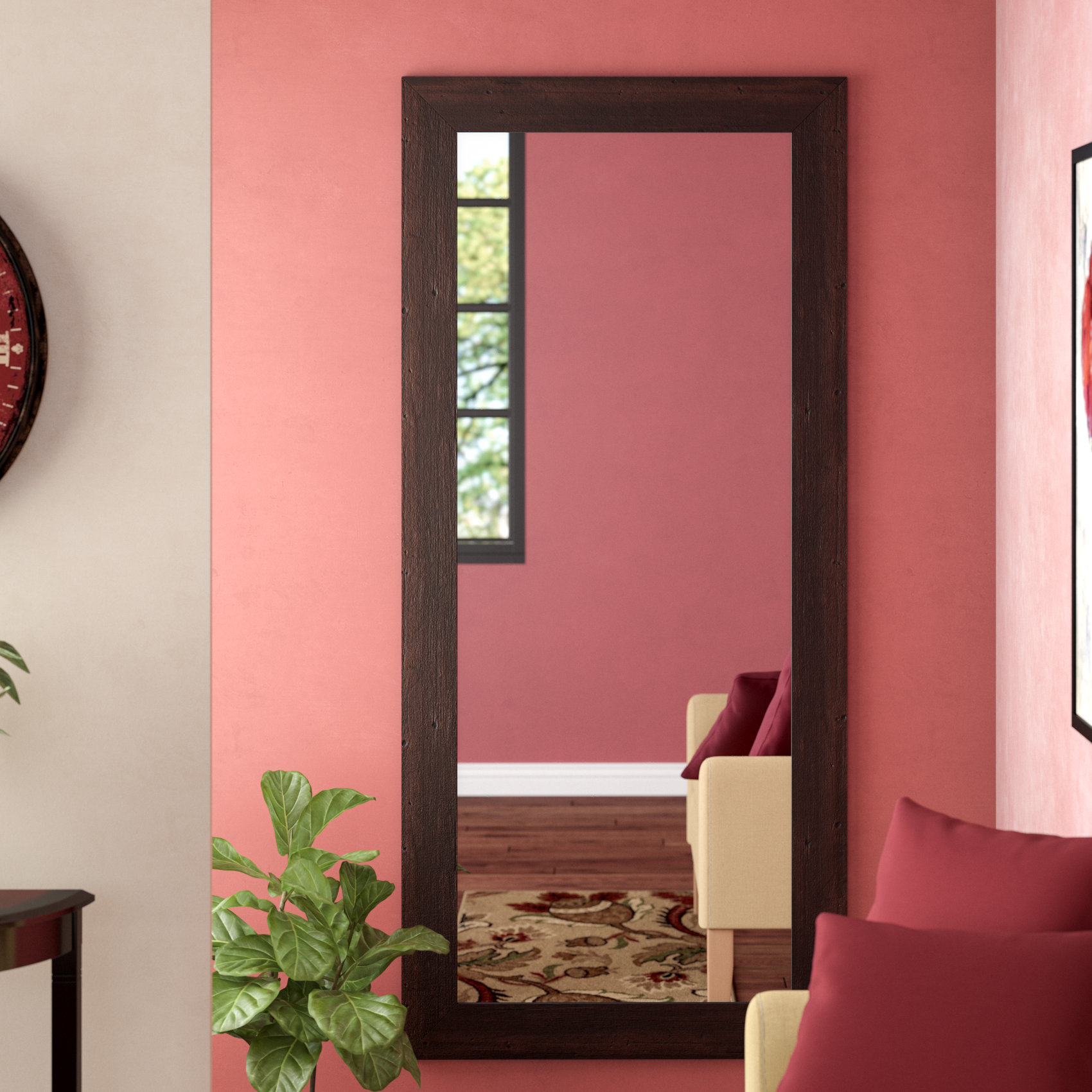 Farmhouse & Rustic Red Barrel Studio Wall & Accent Mirrors Pertaining To Hallas Wall Organizer Mirrors (Image 2 of 20)
