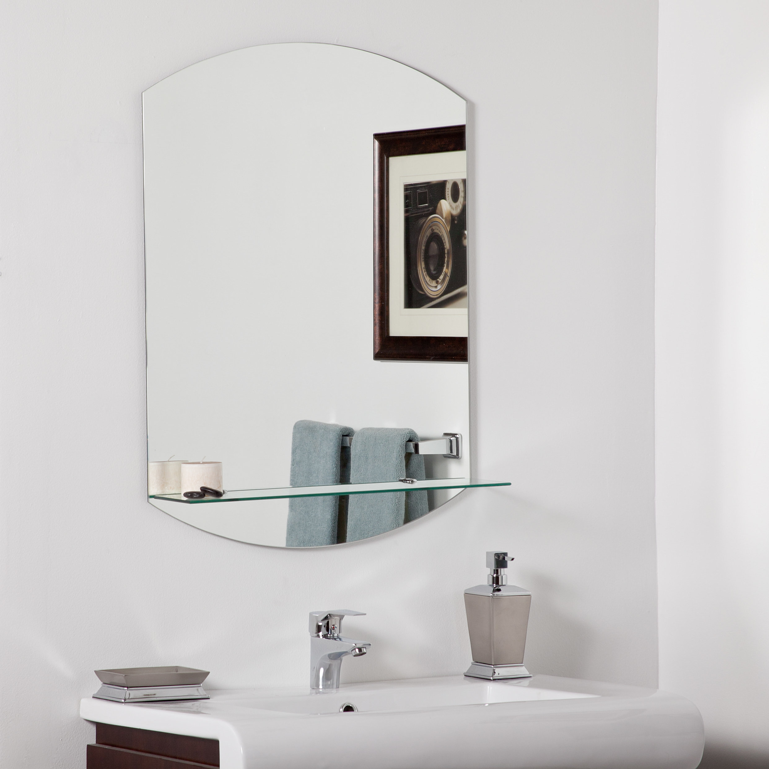 Farmhouse & Rustic Shelves / Drawers Wall & Accent Mirrors Inside Hallas Wall Organizer Mirrors (Image 5 of 20)