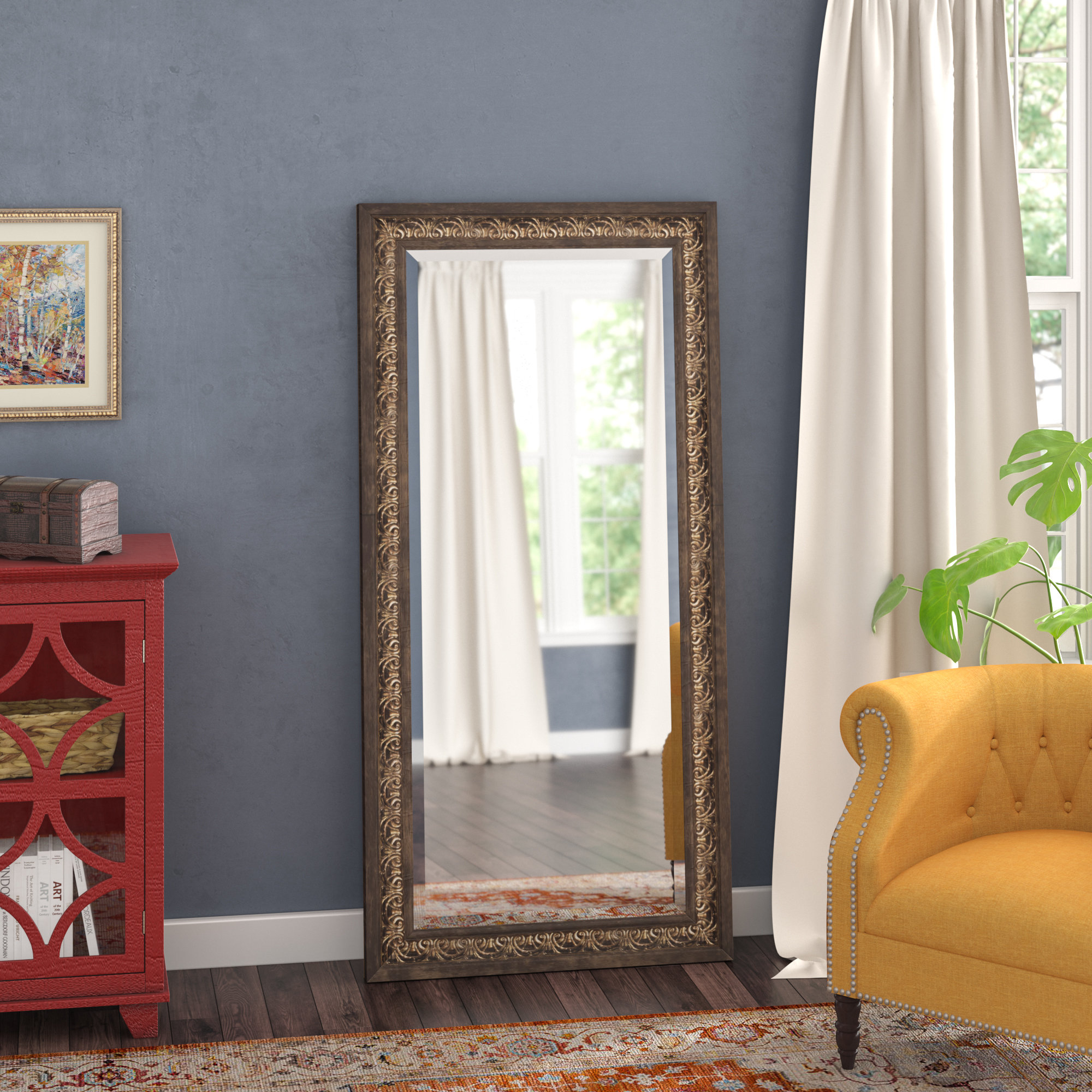 Farmhouse & Rustic Three Posts Wall & Accent Mirrors | Birch Inside Shildon Beveled Accent Mirrors (View 11 of 20)