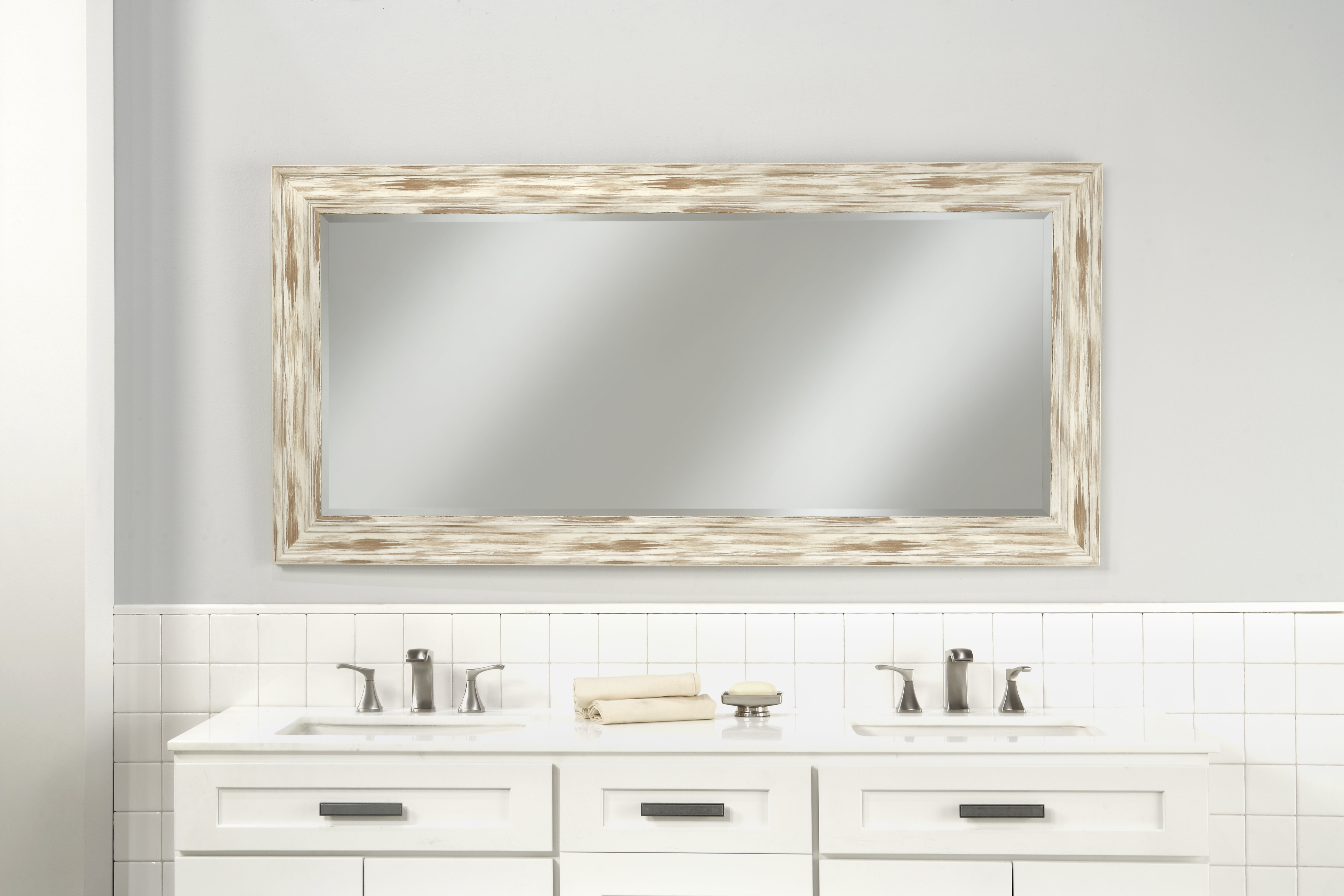Farmhouse & Rustic Three Posts Wall & Accent Mirrors | Birch Within Shildon Beveled Accent Mirrors (View 8 of 20)