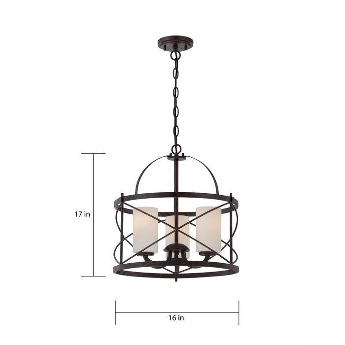 Featured Image of Farrier 3 Light Lantern Drum Pendants