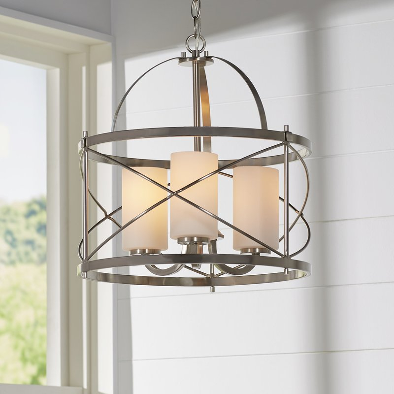 Farrier 3 Light Lantern Drum Pendant Throughout Farrier 3 Light Lantern Drum Pendants (Image 15 of 25)