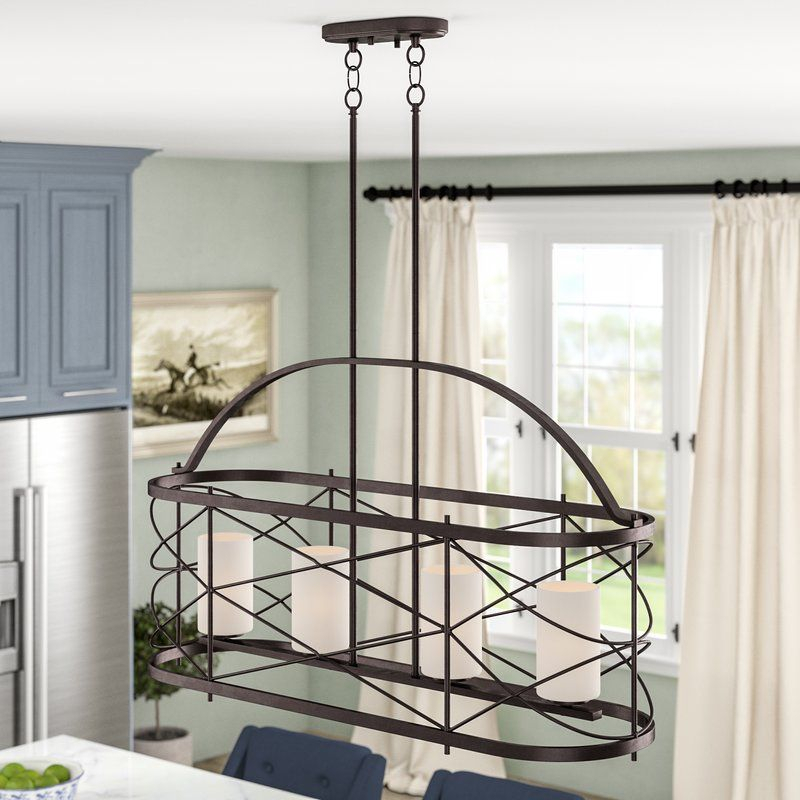 Farrier 4 Light Kitchen Island Pendant In 2019 | Kitchen Throughout Gisselle 4 Light Drum Chandeliers (View 15 of 20)