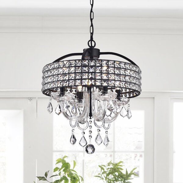 Faux Crystal Chandelier | Wayfair Within Whitten 4 Light Crystal Chandeliers (View 7 of 20)