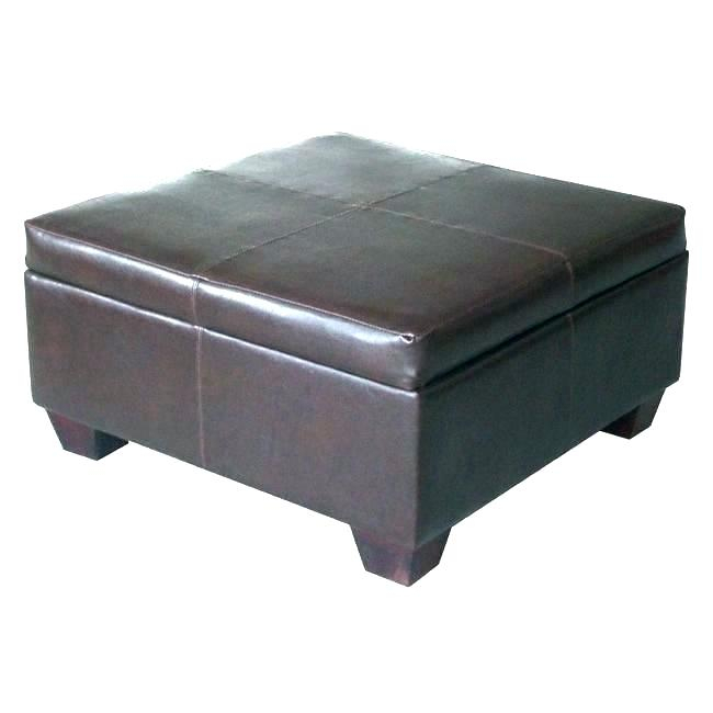 Faux Leather Ottoman Coffee Table – Soilaklos (Image 3 of 25)
