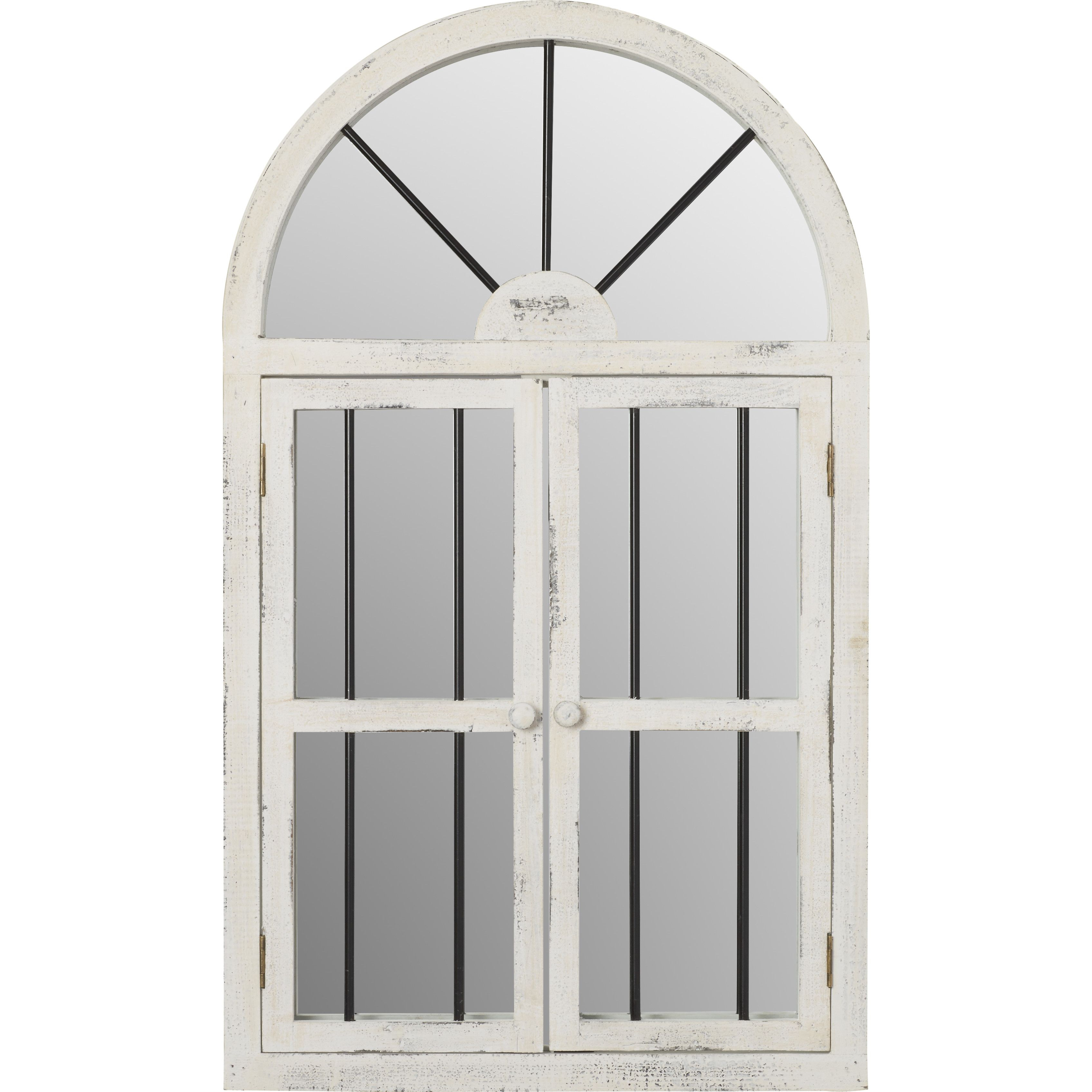 Faux Window Wood Wall Mirror | Окна | Faux Window, Round Intended For Faux Window Wood Wall Mirrors (View 5 of 20)