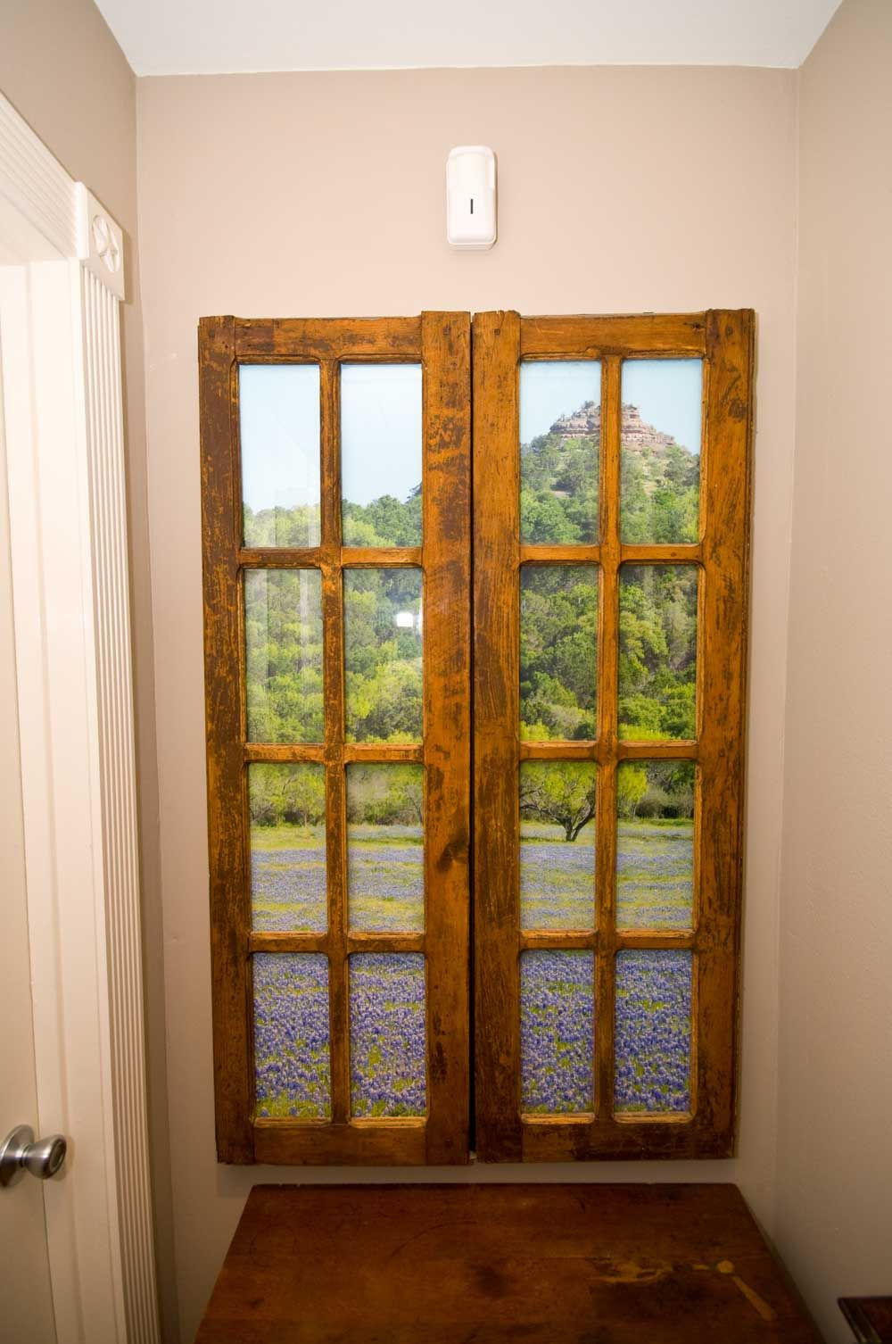 Faux Windows For Windowless Rooms | Faux Window Pictures Throughout Faux Window Wood Wall Mirrors (View 14 of 20)