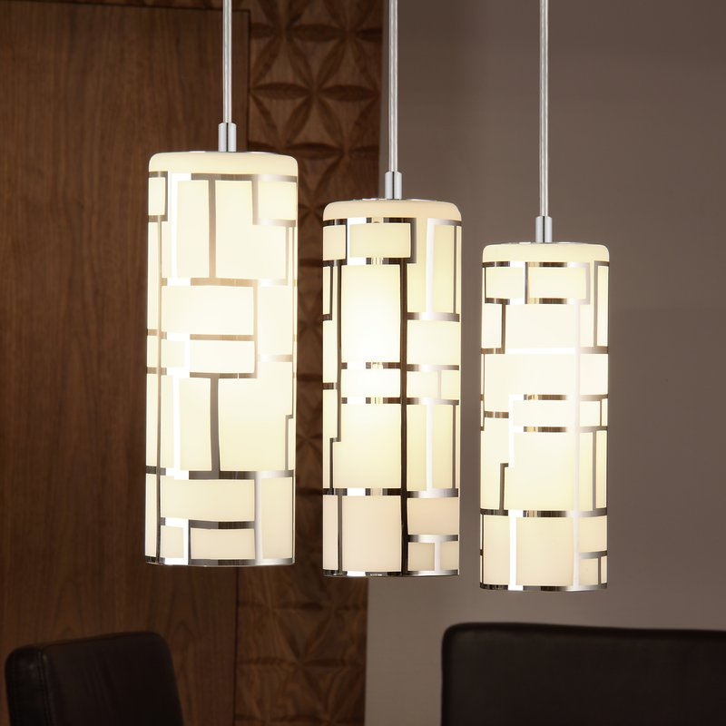 Feldt 3 Light Kitchen Island Pendant With Regard To Callington 1 Light Led Single Geometric Pendants (View 11 of 25)