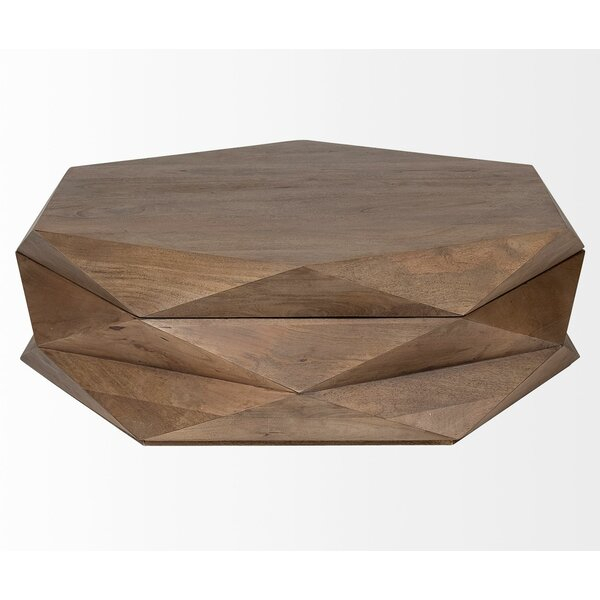 Fenn Coffee Table With Tray Top And Storage With Carbon Loft Lawrence Reclaimed Cube Coffee Tables (Image 18 of 50)