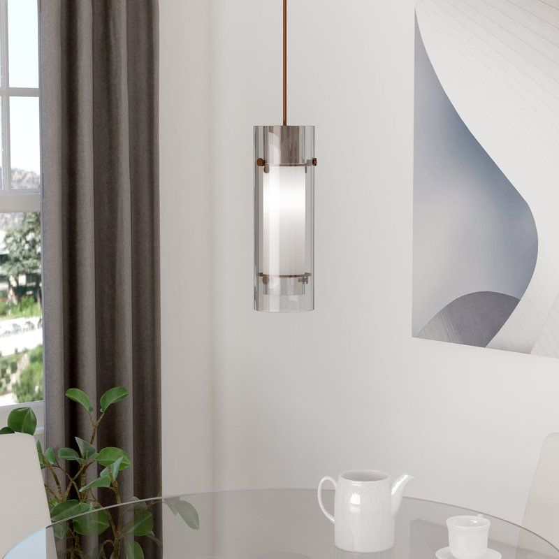 Fennia 1 Light Cylinder Pendant In 2019 | Pennants | Pendant With Regard To Fennia 1 Light Single Cylinder Pendants (View 6 of 25)
