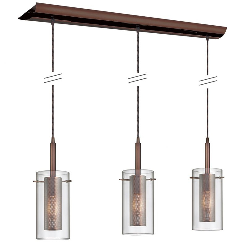 Fennia 3 Light Kitchen Island Linear Pendant Intended For Fennia 1 Light Single Cylinder Pendants (View 22 of 25)