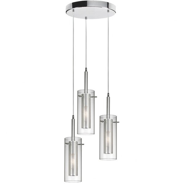 Fennia 3 Light Pendantorren Ellis For Fennia 1 Light Single Cylinder Pendants (View 12 of 25)
