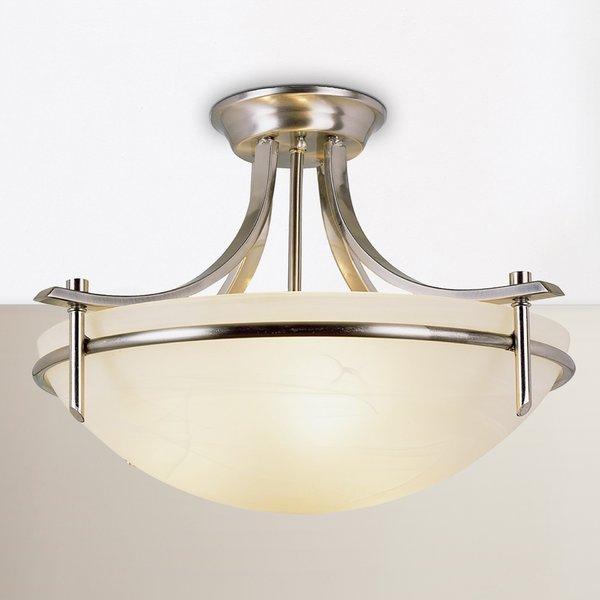 Ferrante 3 Light Semi Flush Mount For Warner Robins 3 Light Lantern Pendants (Image 4 of 25)