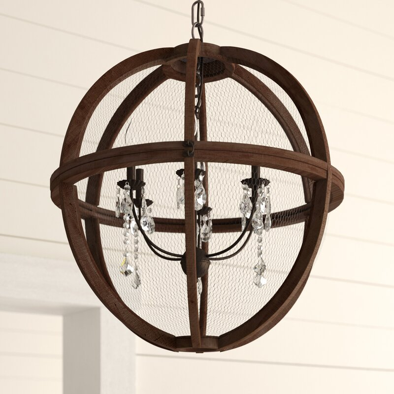 Filipe Globe Chandelier With Regard To Joon 6 Light Globe Chandeliers (Image 8 of 20)