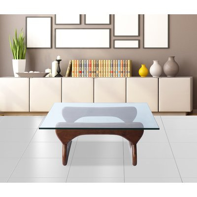 Fine Mod Imports Guchi Coffee Table Base Color: Walnut Regarding Finbar Modern Rectangle Glass Coffee Tables (View 14 of 25)