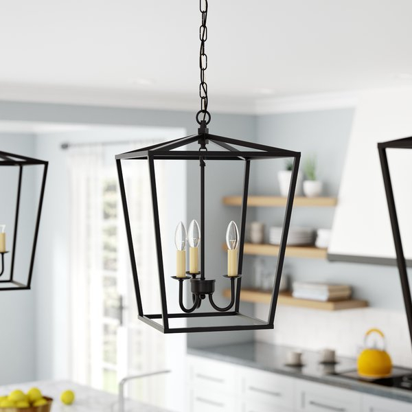 Finnick 3 Light Lantern Pendant With Finnick 1 Light Geometric Pendants (View 7 of 25)