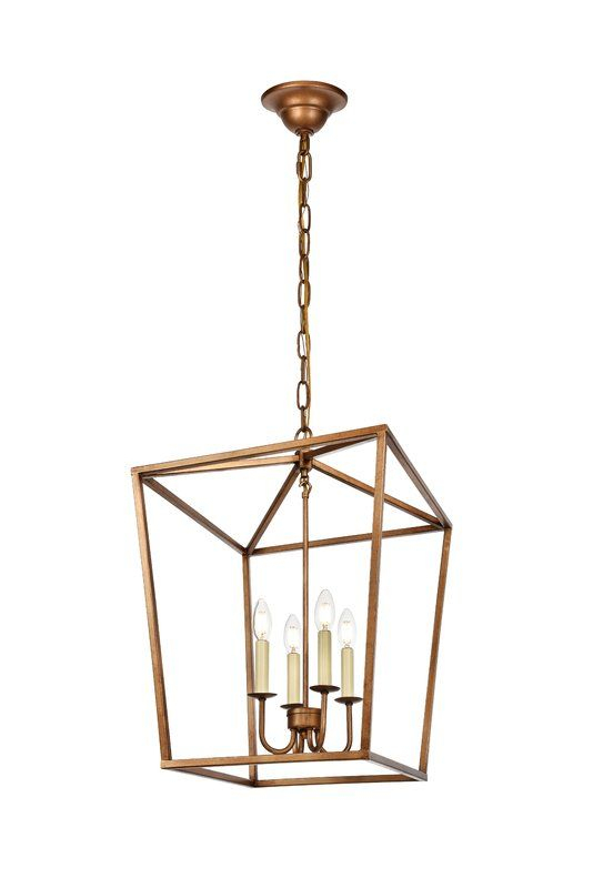 Finnick 4 Light Foyer Pendant In 2019 | Kitchen | Entryway Pertaining To Finnick 3 Light Lantern Pendants (View 10 of 20)
