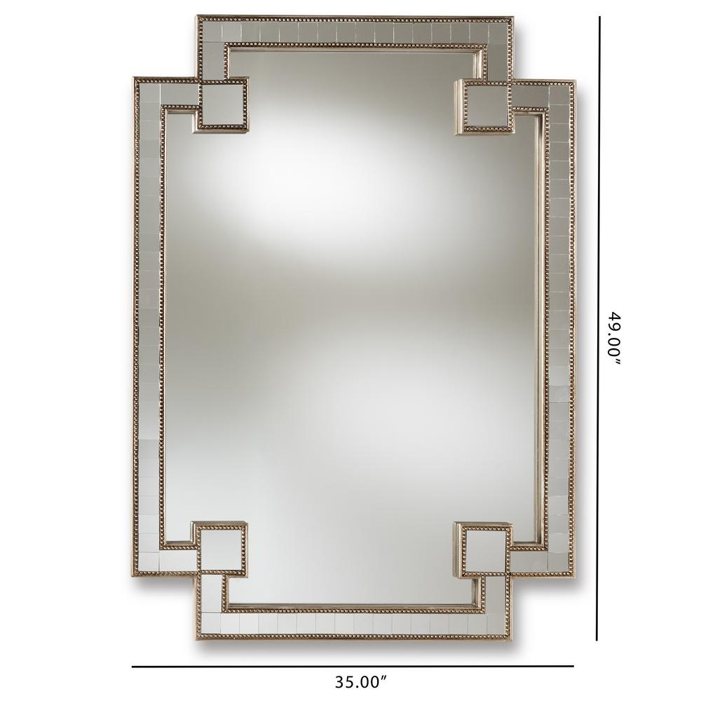 Fiorella Antique Silver Wall Mirror Within Elevate Wall Mirrors (Image 12 of 20)