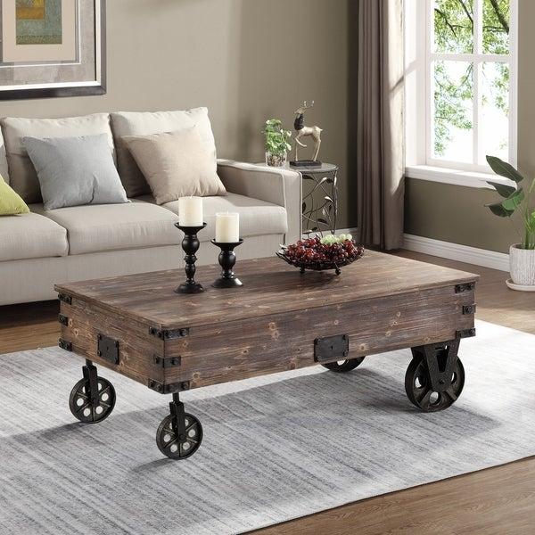 """Firstime & Co.® Factory Cart Coffee Table – 45"""" X 17"""" X  (View 24 of 50)"""