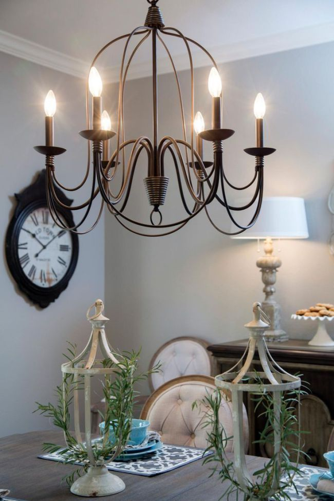Fixer Upper Lighting For Your Home | Home | Farmhouse Dining Throughout Gaines 5 Light Shaded Chandeliers (View 16 of 20)