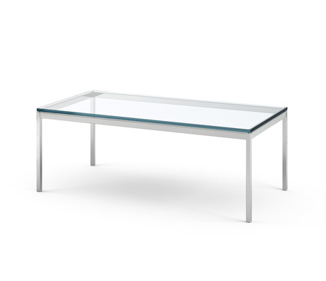 Florence Knoll Rectangular Coffee Table Within Strata Chrome Glass Coffee Tables (View 17 of 25)