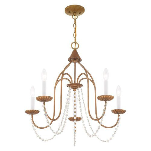 Florentina 5 Light Candle Style Chandelier | Cute Things I Pertaining To Florentina 5 Light Candle Style Chandeliers (View 9 of 20)