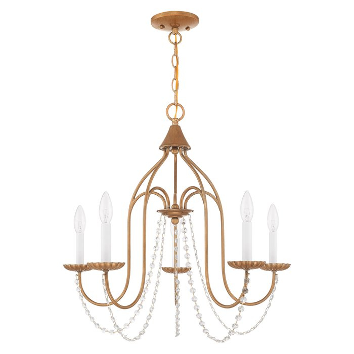 Florentina 5 Light Candle Style Chandelier Intended For Corneau 5 Light Chandeliers (View 14 of 20)